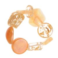 Jackie Brazil Indiana Multi Bead Resin Bracelet in Gold|Oxfordshire Jewellery Boutique
